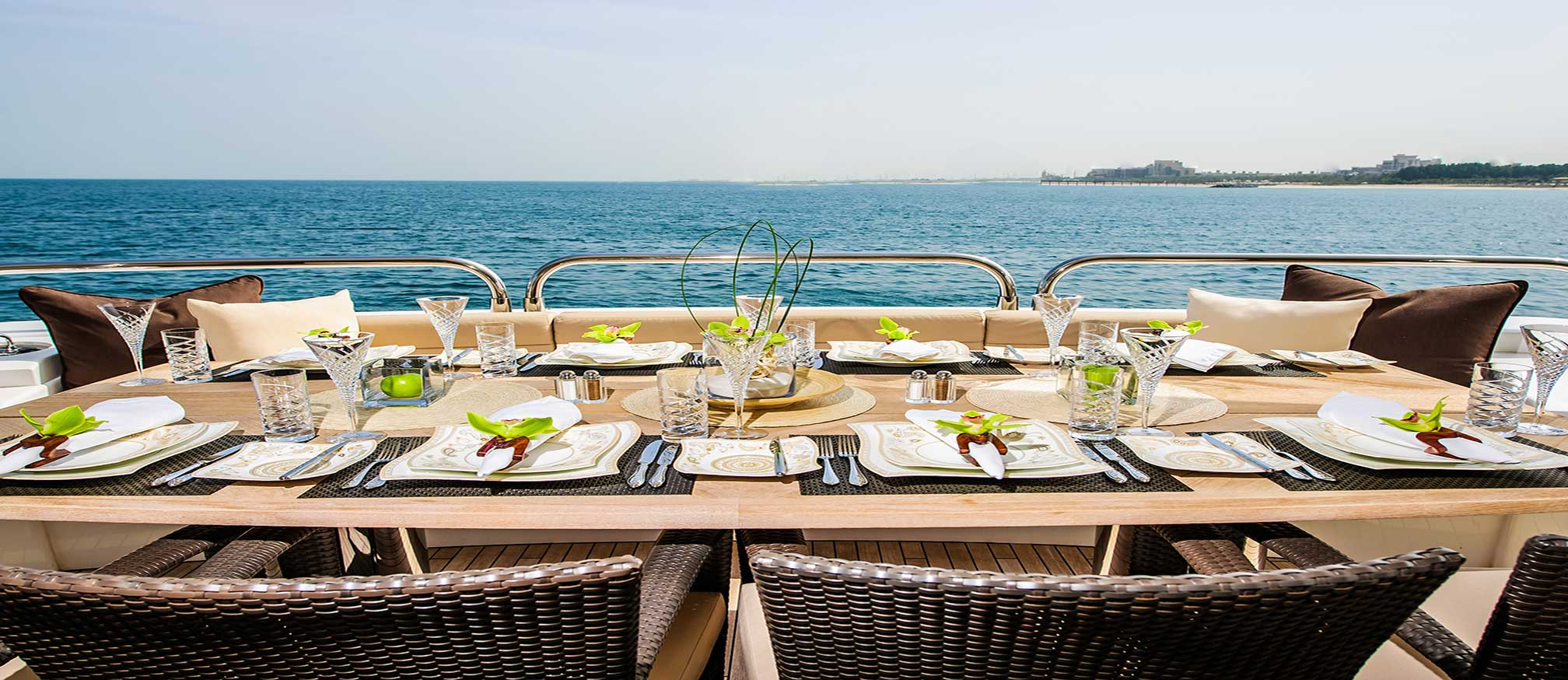 Lunch on a charter luxury gulet